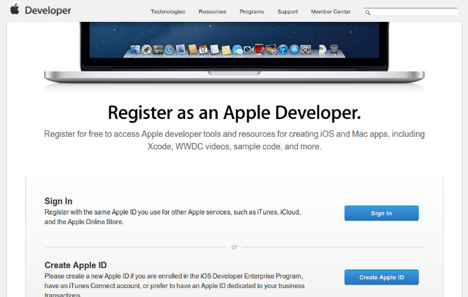 01 - Apple Developer Registration